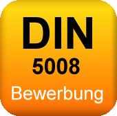 DIN 5008 Bewerbung