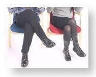 Syncrone Haltung der Beine (Pacing)